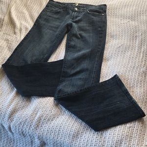 7 for all mankind Dark wash Flare Size 27